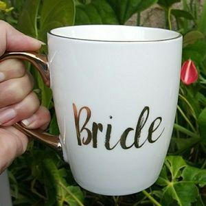 New  Bride Gold Mug Coffee Cup 16 onz